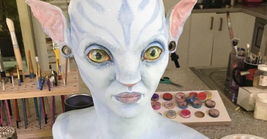 Avatar Cake - Neytiri - Before Hair