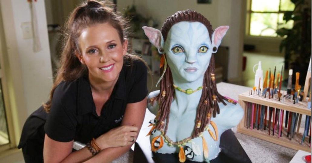 Neytiri - Avatar Cake Sculpture - Horror Cakes by Heidi Dahlenburg