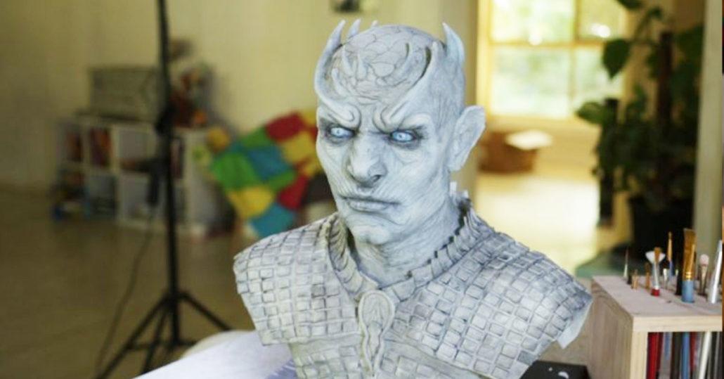 Night King - Sculpting the Face - Horror Cakes by Heidi Dahlenburg